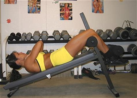 incline bench crunch incline bench crunches