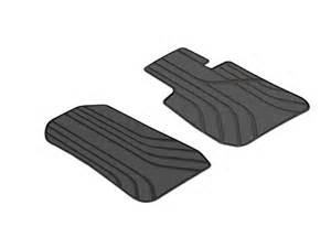bmw genuine front all weather rubber floor mats anthracite
