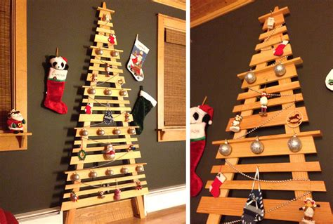 how to make a wall christmas tree diy wall mounted tree my home my style