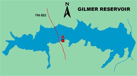 gilmer texas map lake gilmer access