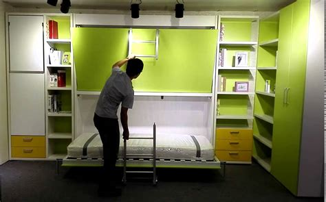 Matrix space hidden bunk wall bed murphy bed youtube