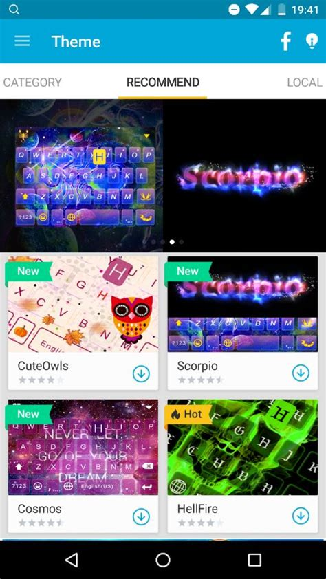 themes for android offline sponsored app review kika keyboard androidheadlines com