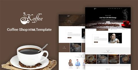 Koffee Coffee Shop Cafe Restaurant Html Template By Hastech Themeforest Coffee Shop Template