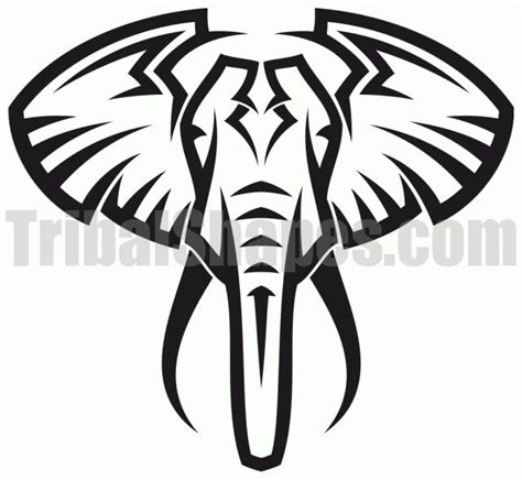 elephant tattoo stencils 1000 ideas about tribal elephant drawing on pinterest
