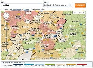 Immobilienscout24 Haus Kaufen Frankfurt Griesheim by Immobilien In Frankfurt Immobilienpreise 2016