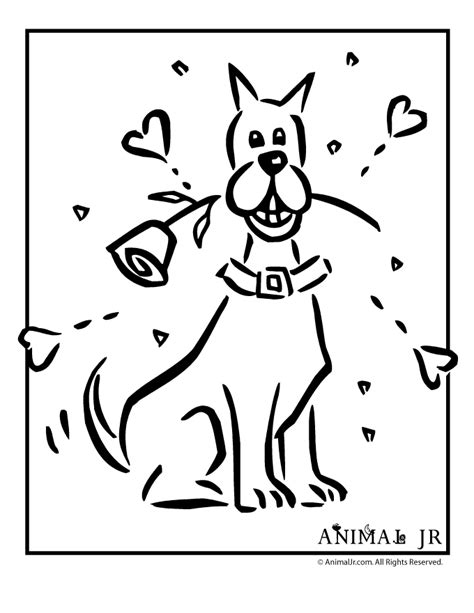 valentines day coloring pages with dogs dog valentine coloring pages coloring pages for free