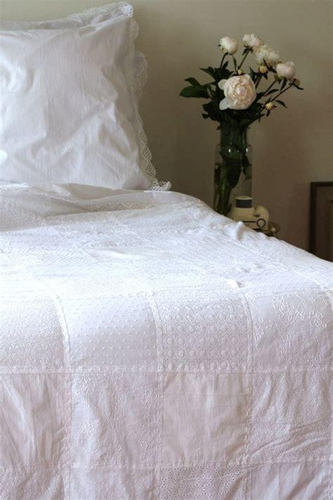 White Patchwork Quilt - patchwork quilt white