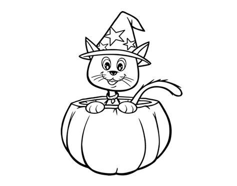 imagenes halloween pdf dibujo de gatito de halloween para colorear dibujos net