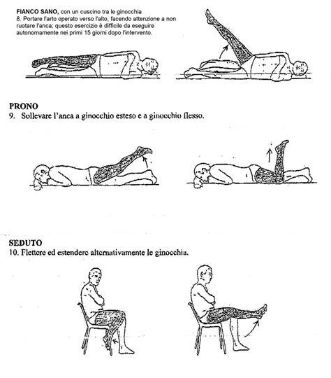 intervento interno coscia esercizi domiciliari dopo un intervento di protesi d anca