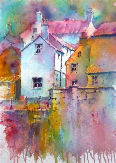 watercolor tutorial buildings staithes harbour brusho joanne boon thomas www