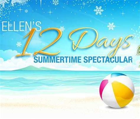Ellentv 12 Days Of Giveaways - ellentv com summer12days ellen s 12 days summertime spectacular
