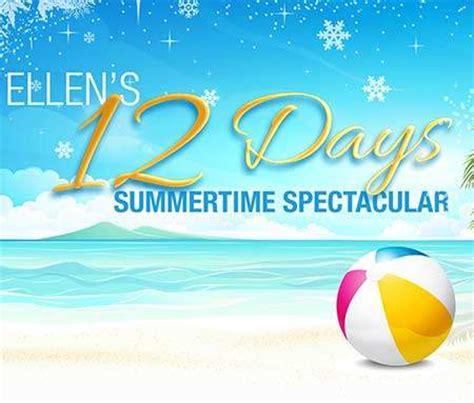 Ellentv 12 Days Giveaways - ellentv com summer12days ellen s 12 days summertime spectacular