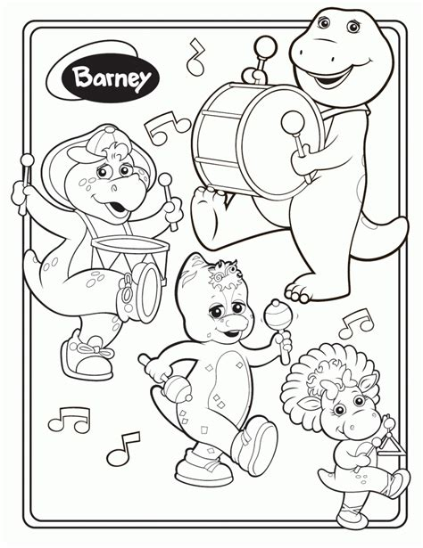 barney coloring pages games free printable barney coloring pages for kids