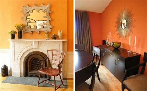cuadros mandarina home chimenea pared naranja deco para la casa pinterest