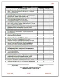 personnel list template employee files checklist