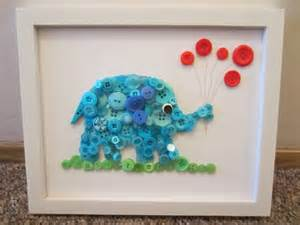 cool creativity diy button elephant wall