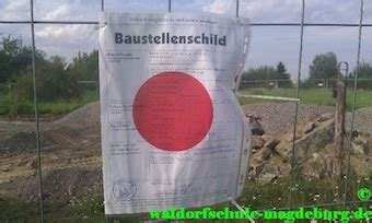 Baustellenschild Sachsen Anhalt by Freie Waldorfschule Magdeburg Baukreis