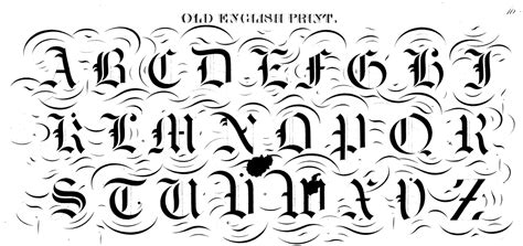 printable old english alphabet letters image gallery old english alphabet stencil