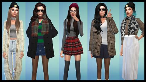 Sweater Cc sims 4 fall lookbook sweater weather cc links