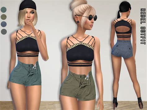 sims 4 clothing for females sims 4 updates puresim s rebel outfit