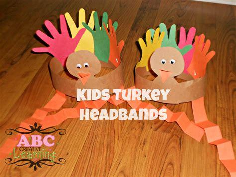november arts and crafts for turkey headband craft for