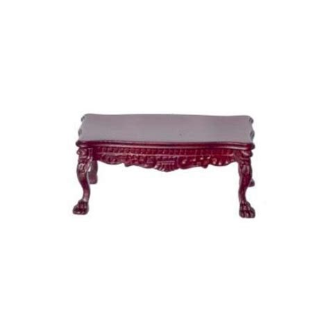 Hton Square Coffee Table Leg Coffee Table Platinum Collection Mahogany Town Square Dollhouse Miniatures