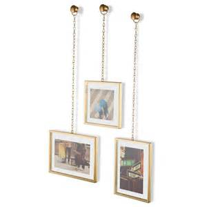 umbra fotochain photo display brass hanging photo frames hanging photo display with lace papers for country wedding