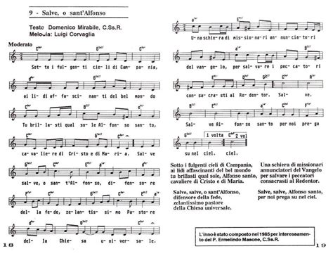 alfonso testo sant alfonso e dintorni 187 archiv 187 canti in onore di