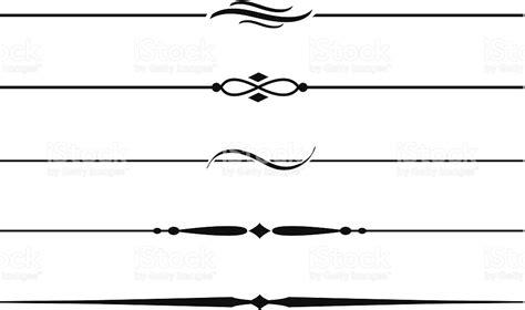 video tutorial vector line art decorative dividing lines and accents 5 stock vector art