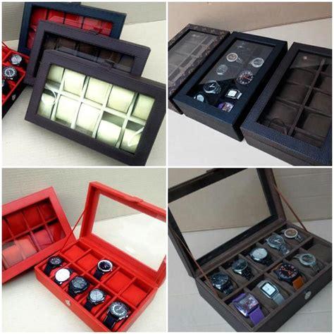 Kotak Jam Box Jam Tempat Jam Mountblank Dan Guess kotak jam tangan lindungi jam tangan anda dari kotoran dan debu harga jual