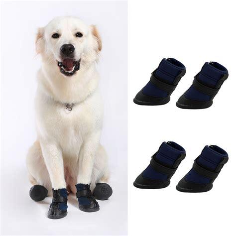 puppy boot c 4pcs black waterproof shoes boots shoes for pets