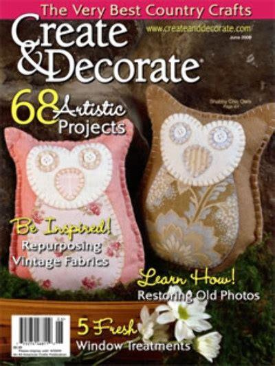 create decorate magazine primitive crafts