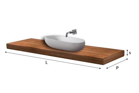 top lavabo bagno top lavabo lamellare fj su misura