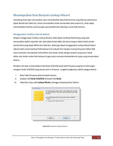 belajar microsoft access share desain tabel dan query panduan ms access 2007 lengkap