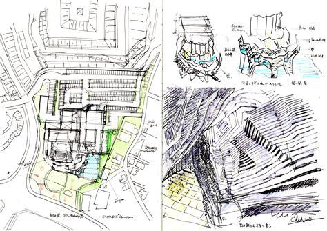 pattern library sketch gallery of ofunato civic center and library chiaki arai