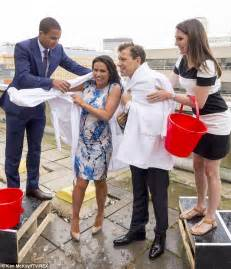 Susanna Reid and Ben Shephard perform the ALS Ice Bucket
