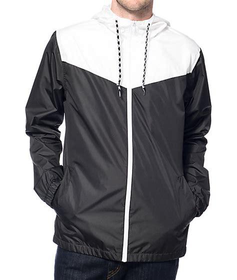 Wind Breaker Jacket zine sprint white black windbreaker jacket