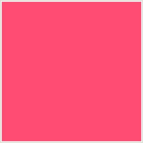 what color is watermelon ff4a71 hex color rgb 255 74 113 watermelon