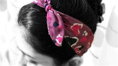 how to make a knotted fabric hair band diy style