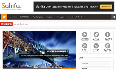 sahifa theme mobile view 80 best responsive wordpress themes wp template