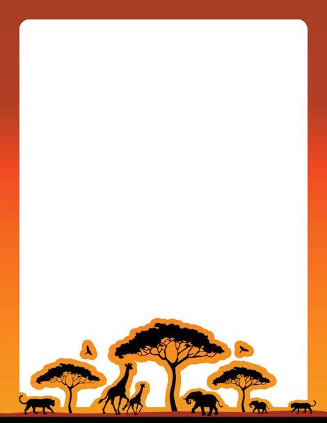 an african safari themed page border free downloads at