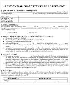 residential property lease agreement template 49 lease agreements in pdf