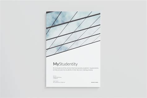 bachelor thesis cover page  behance