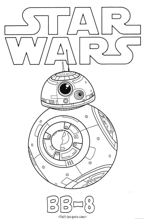 star wars  force awakens bb  coloring pages