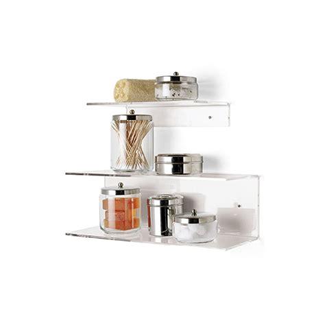 mensole plexiglass composizione doppia mensola bagno cucina a muro in