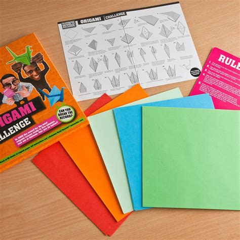 Origami Records - guinness world records origami challenge gifts