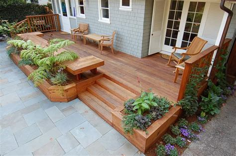 deck planter bench planters as deck borders decking benches and