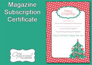 magazine subscription gift card gift ftempo
