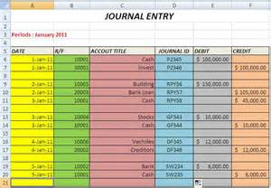 Entry Journal Template by Create The Journal And Journal Entry With Excel Part 2