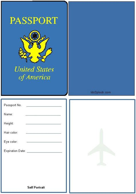 printable passport template passports for world travel activity education